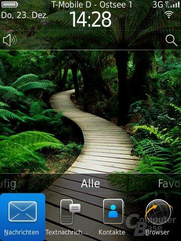 BlackBerry OS 6: Home-Screen