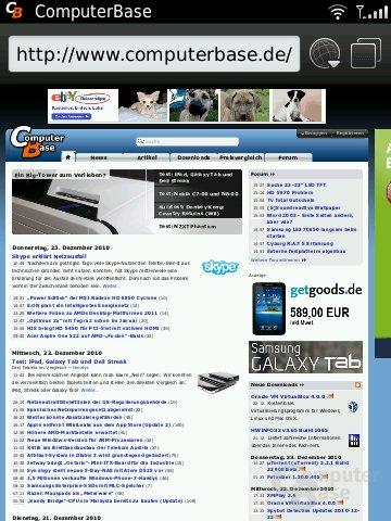 BlackBerry OS 6: Browser
