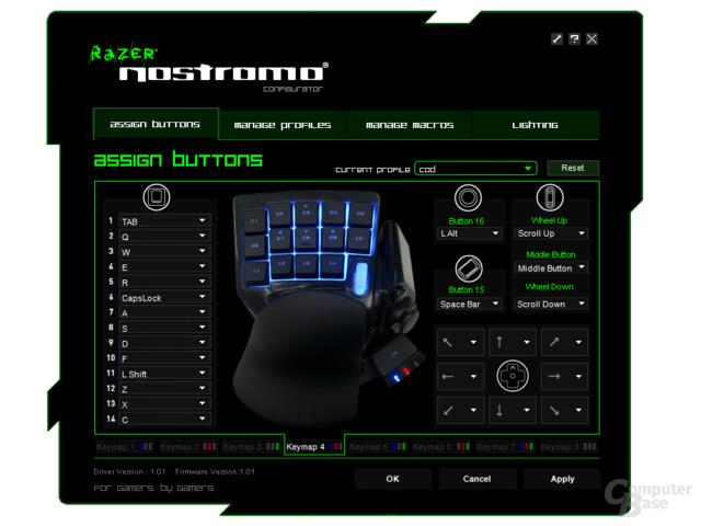 Übersicht Nostromo-Software