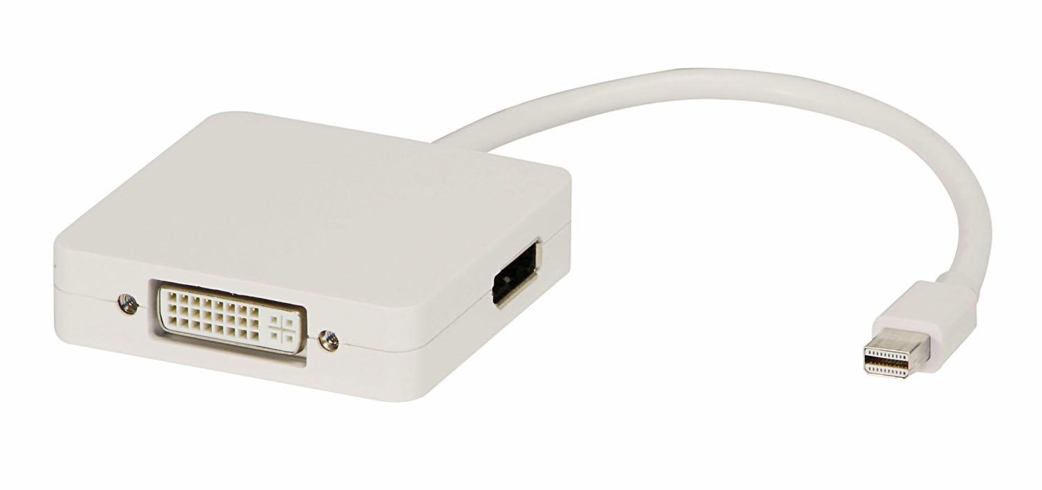 Lindy Adapterkabel Mini DP an HDMI, DVI-D und DP