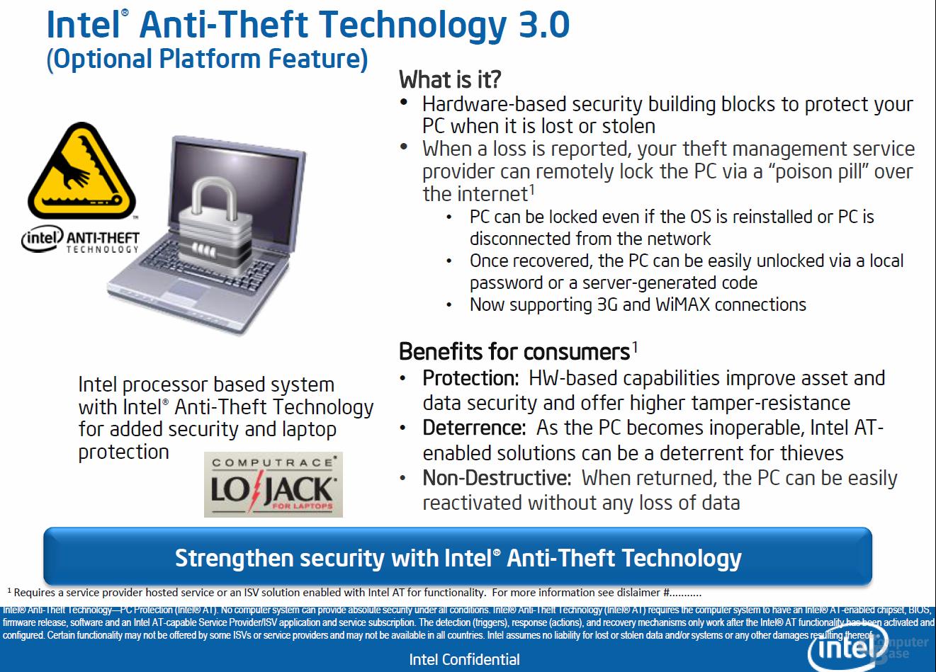 Intel Anti-Theft Technology 3.0