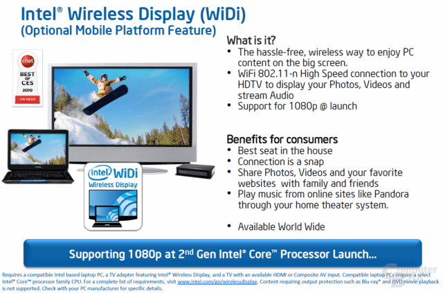 Intel Wireless Display (WiDi)
