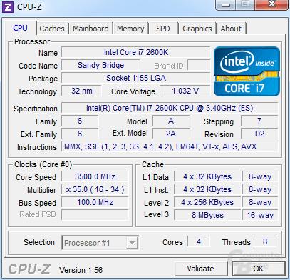 Undervolting des Core i7-2600K