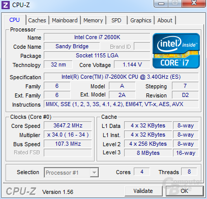 Maximaler BCLK von 107,3 MHz