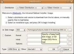 UNetbootin Linux – Distribution laden