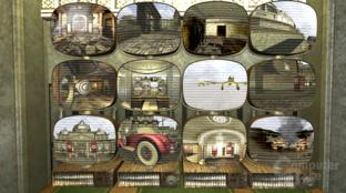 Überwachungsstation zeigt 12 verschiedene Teile des Levels.
