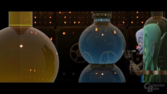 """Bild des Films """"MegaMind"""" zeigt detaillierte Spiegelungen der Umgebung"""