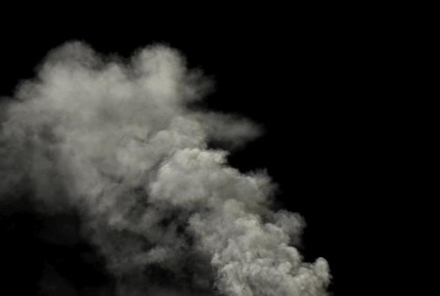 Mit FumeFX offline berechneter Rauch.