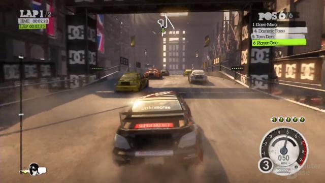 Screenshot aus Dirt 2 durch Benutzung von OnLive.