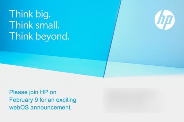 HP: Einladung zu einer webOS-Veranstaltung