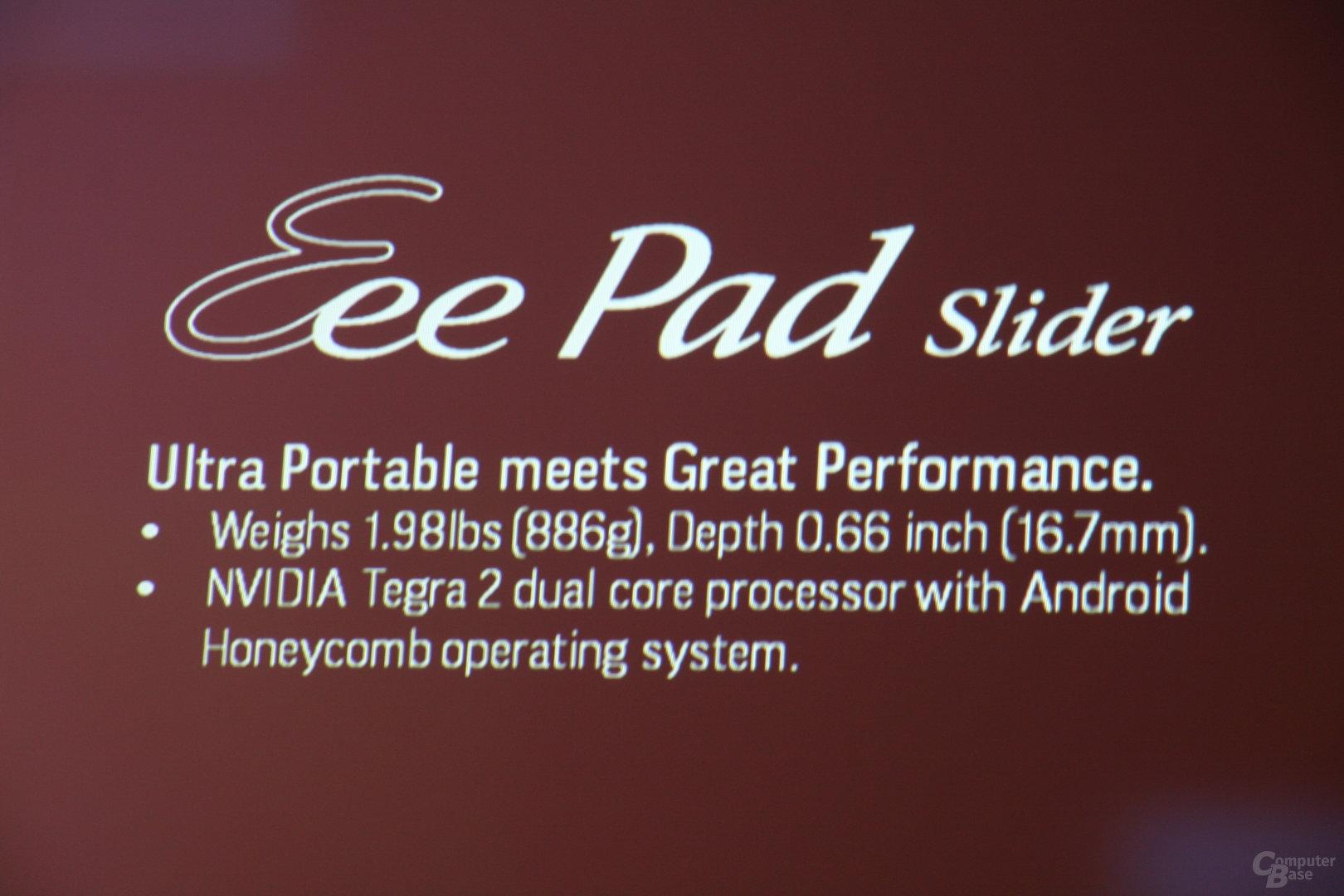 Asus-PK zu Eee Pad und Eee Slate