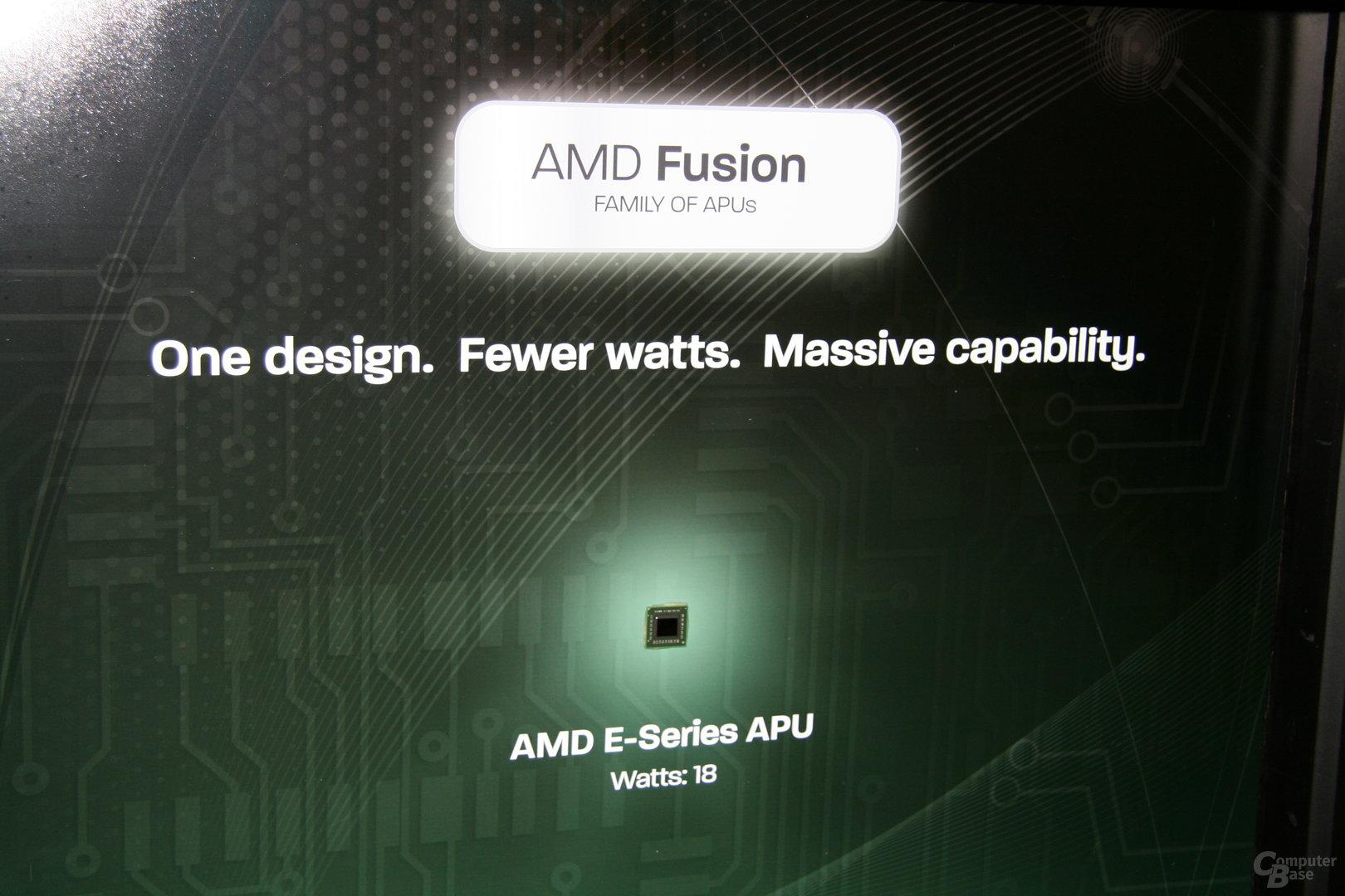 """""""Fusion""""-Netbooks von AMD auf der CES 2011"""