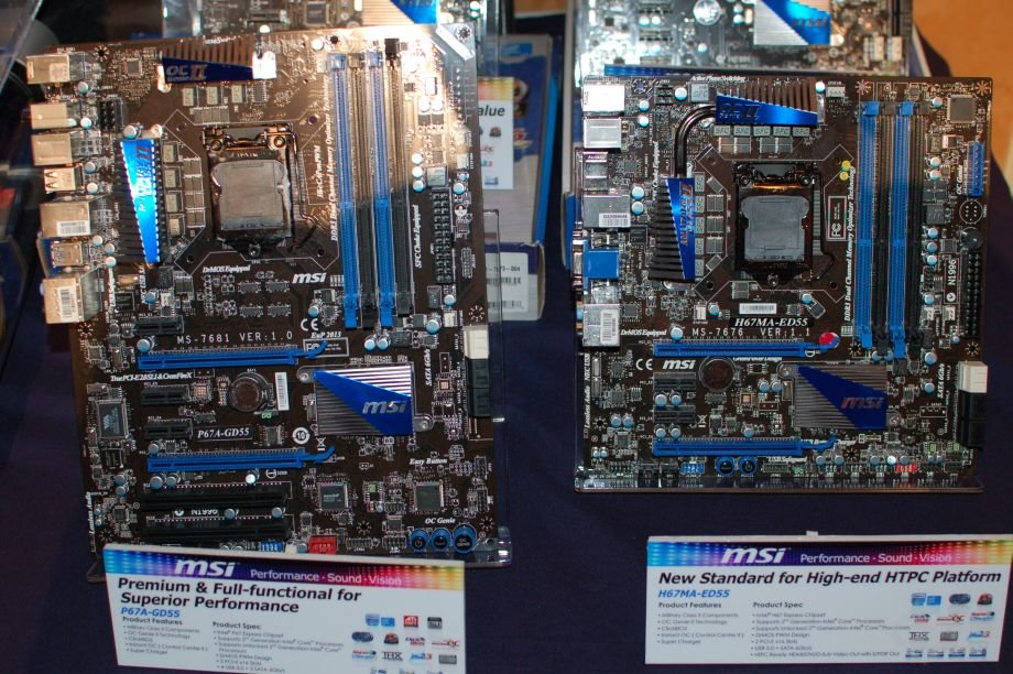 MSIs Sandy-Bridge-Mainboards auf der CES 2011
