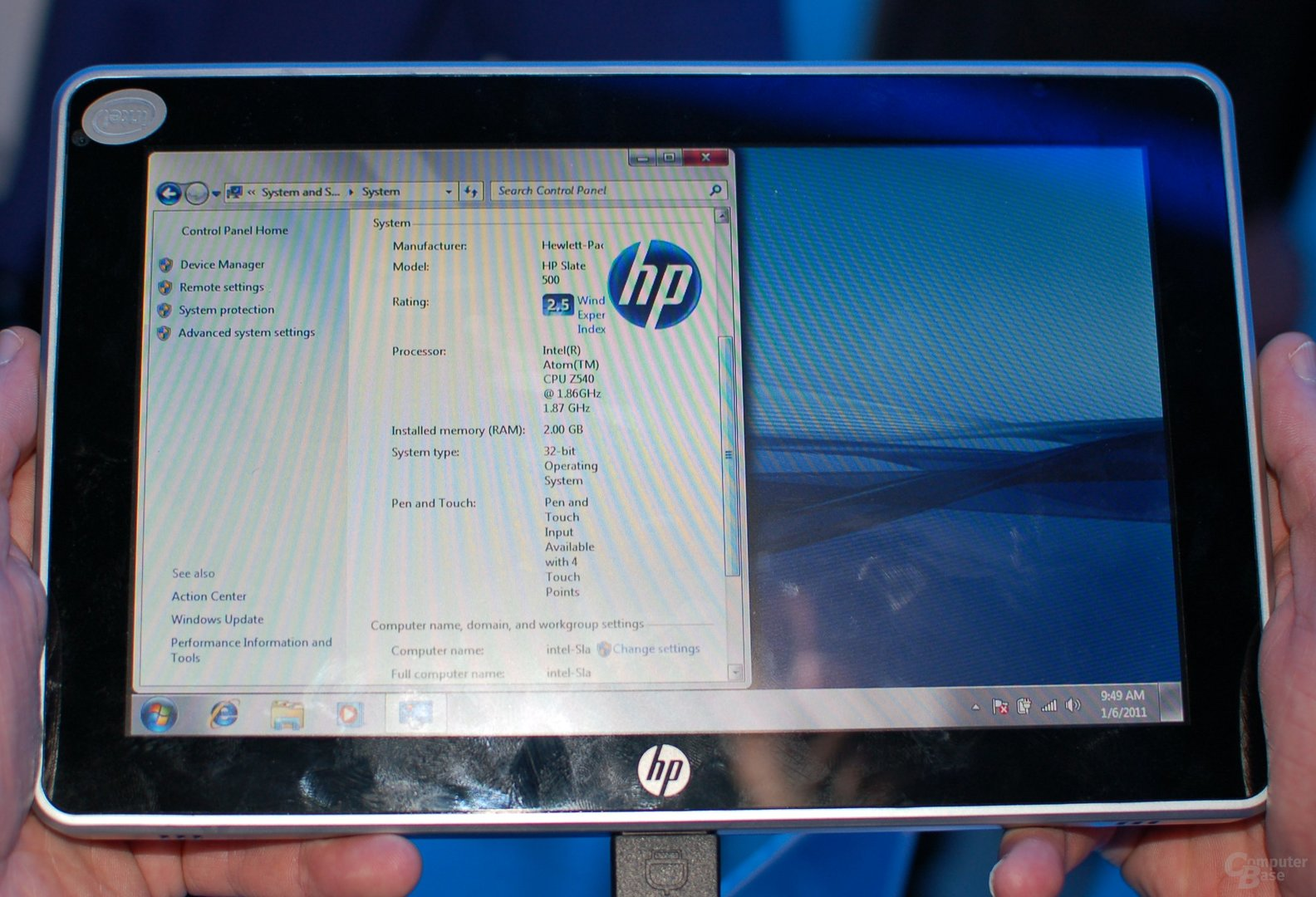 CES 2011: HP-Tablet am Intel-Stand