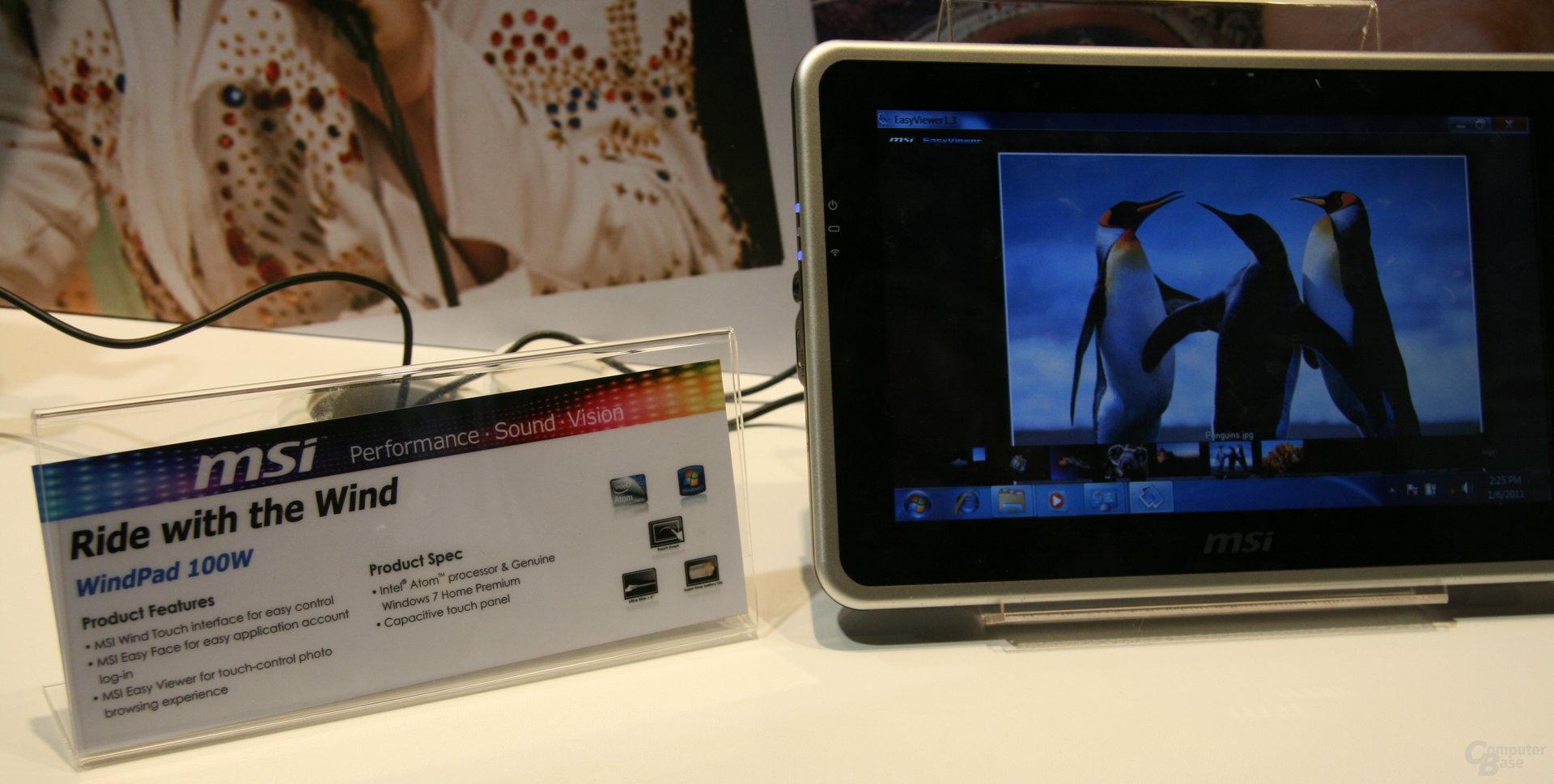 MSI-Tablets auf der CES 2011