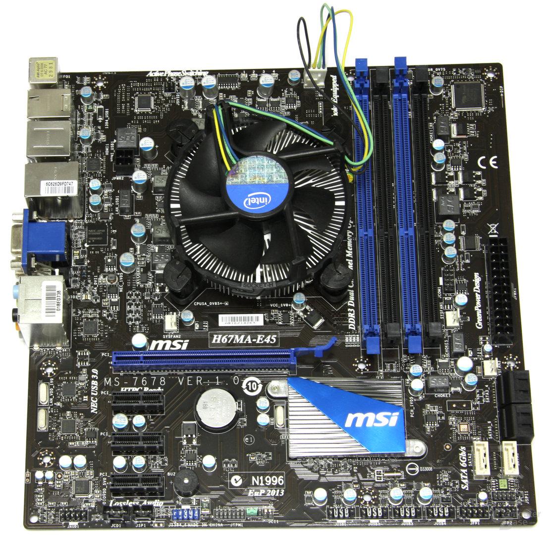 H67MA-E45 mit Kühler