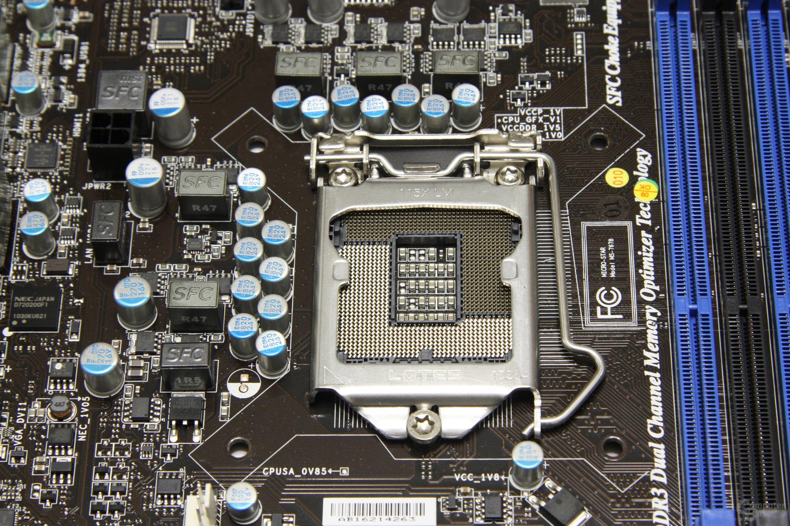 H67MA-E45 CPU-Sockel 1