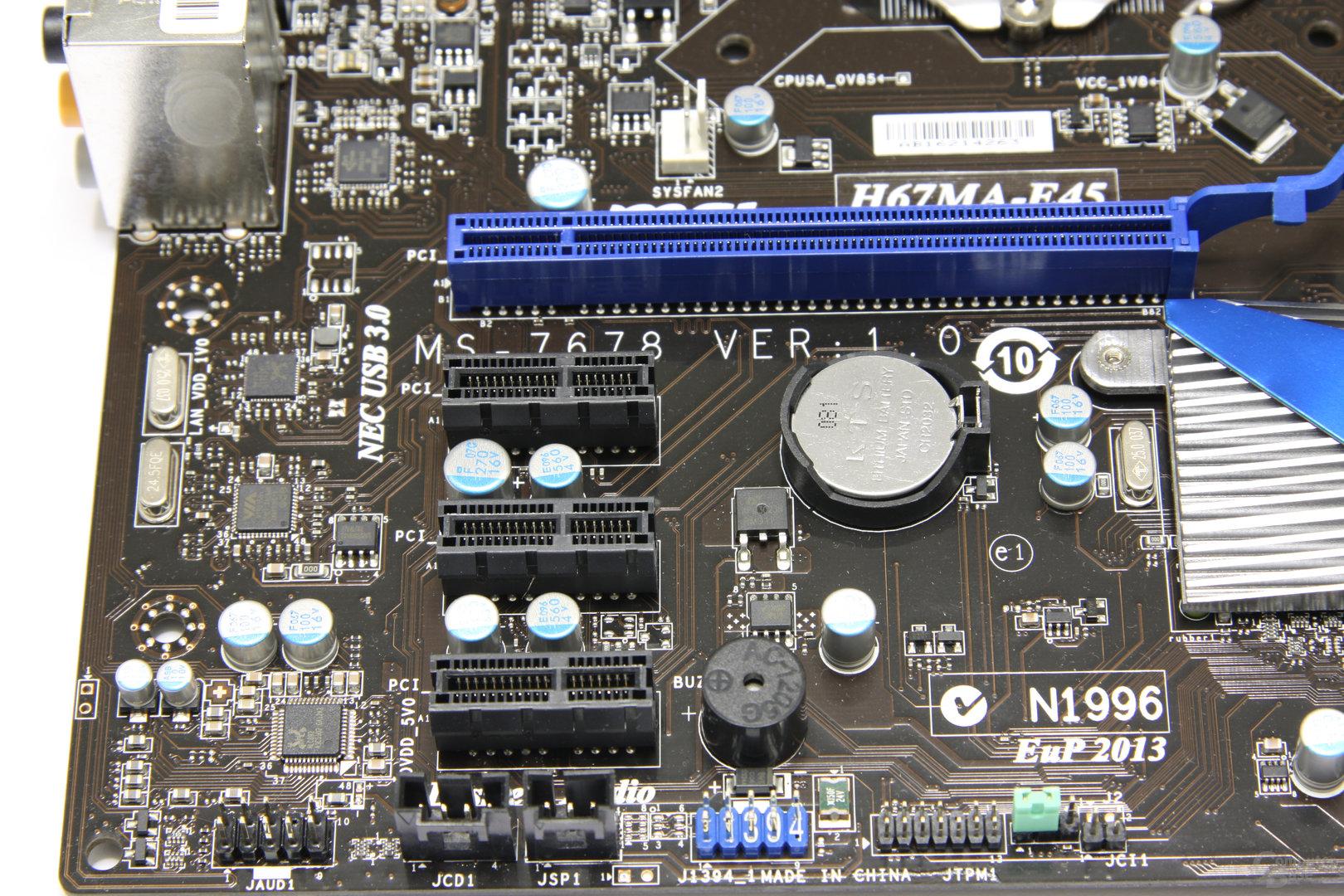 H67MA-E45 PCIe-Slots