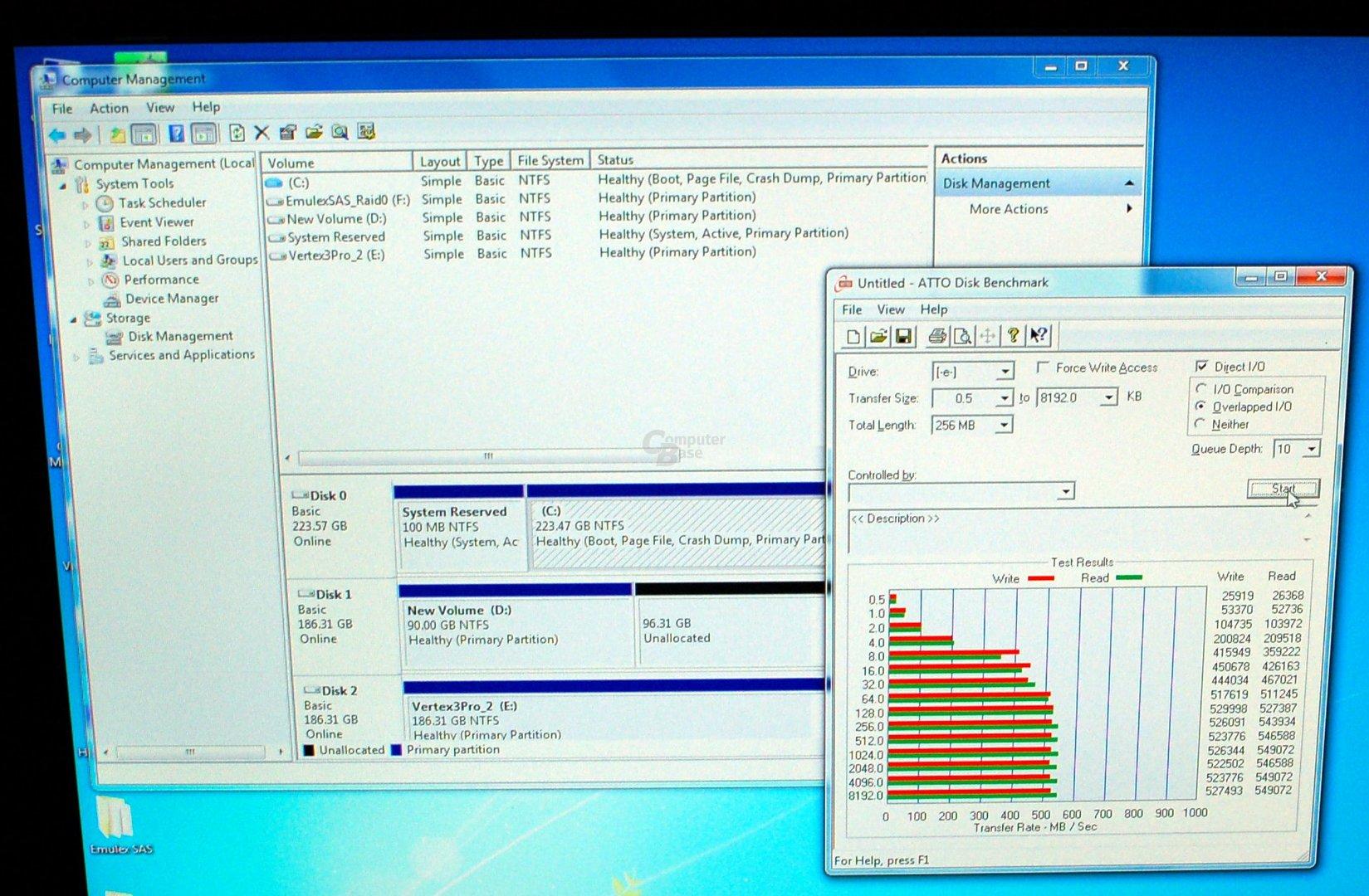 Benchmark der Vertex 3 Pro