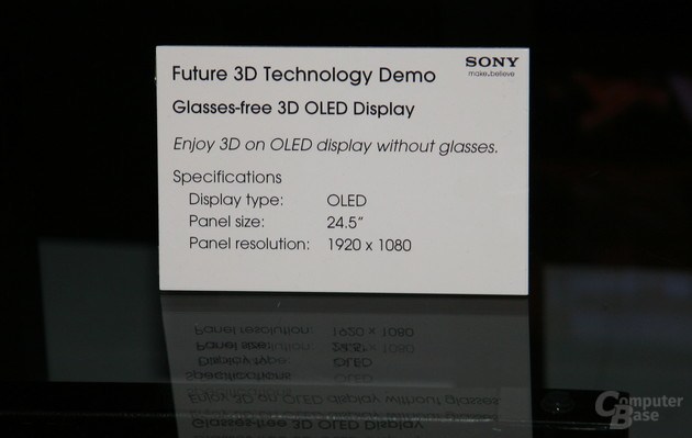 "Sonys ""Glasses-Free 3D""-OLED mit 24,5 Zoll"