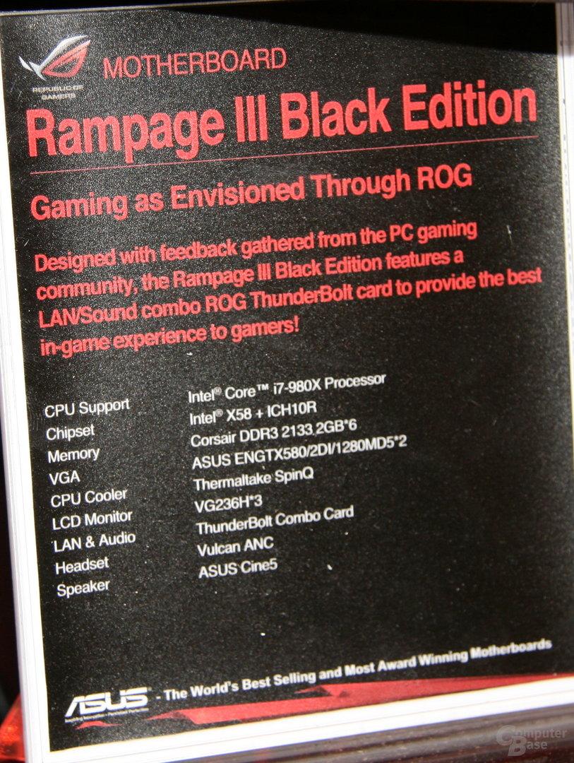 Asus Rampage III Black Edition