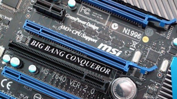 990FX-Platine MSI Big Bang Conqueror mit Sockel AM3+