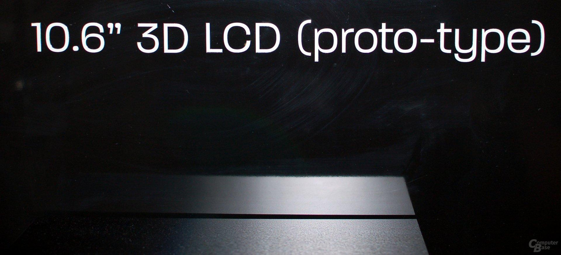 Sharps Prototypen von 3D-Bildschirmen ohne Shutterbrille