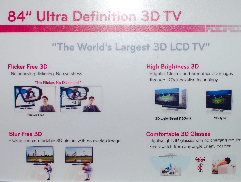 84 Zoll Ultra Definition 3D-TV