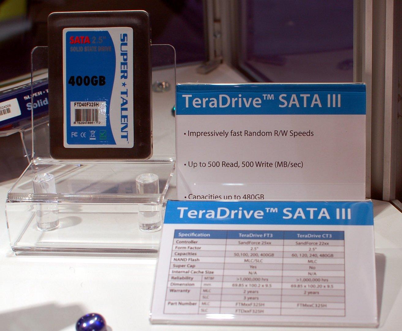 TeraDrive mit neuen SandForce-Controllern