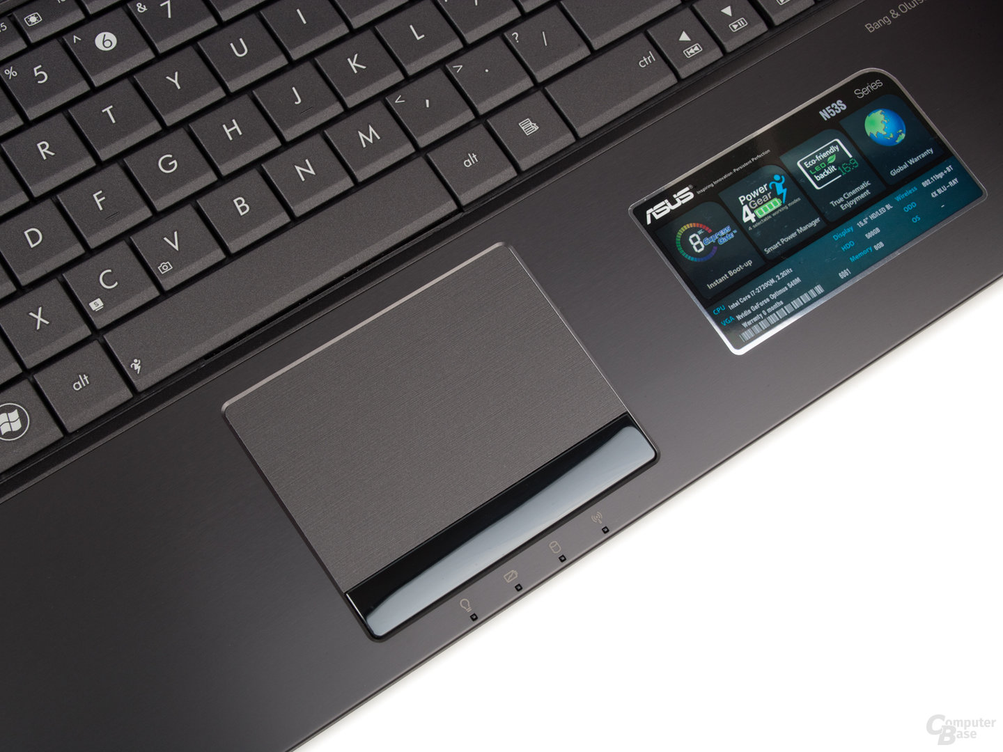 Asus N53SV: Touchpad
