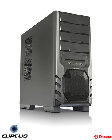 Enermax Clipeus ECA3210-B mit Mesh-Frontfenster