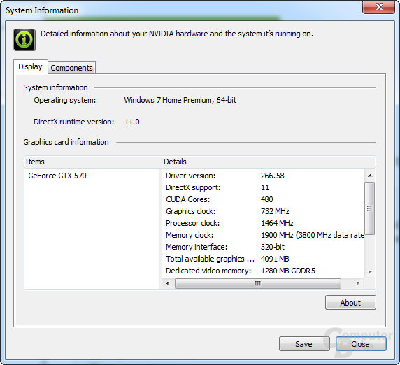 Nvidia GeForce 266.58