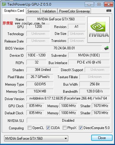 Galaxy Nvidia GeForce GTX 560 Ti