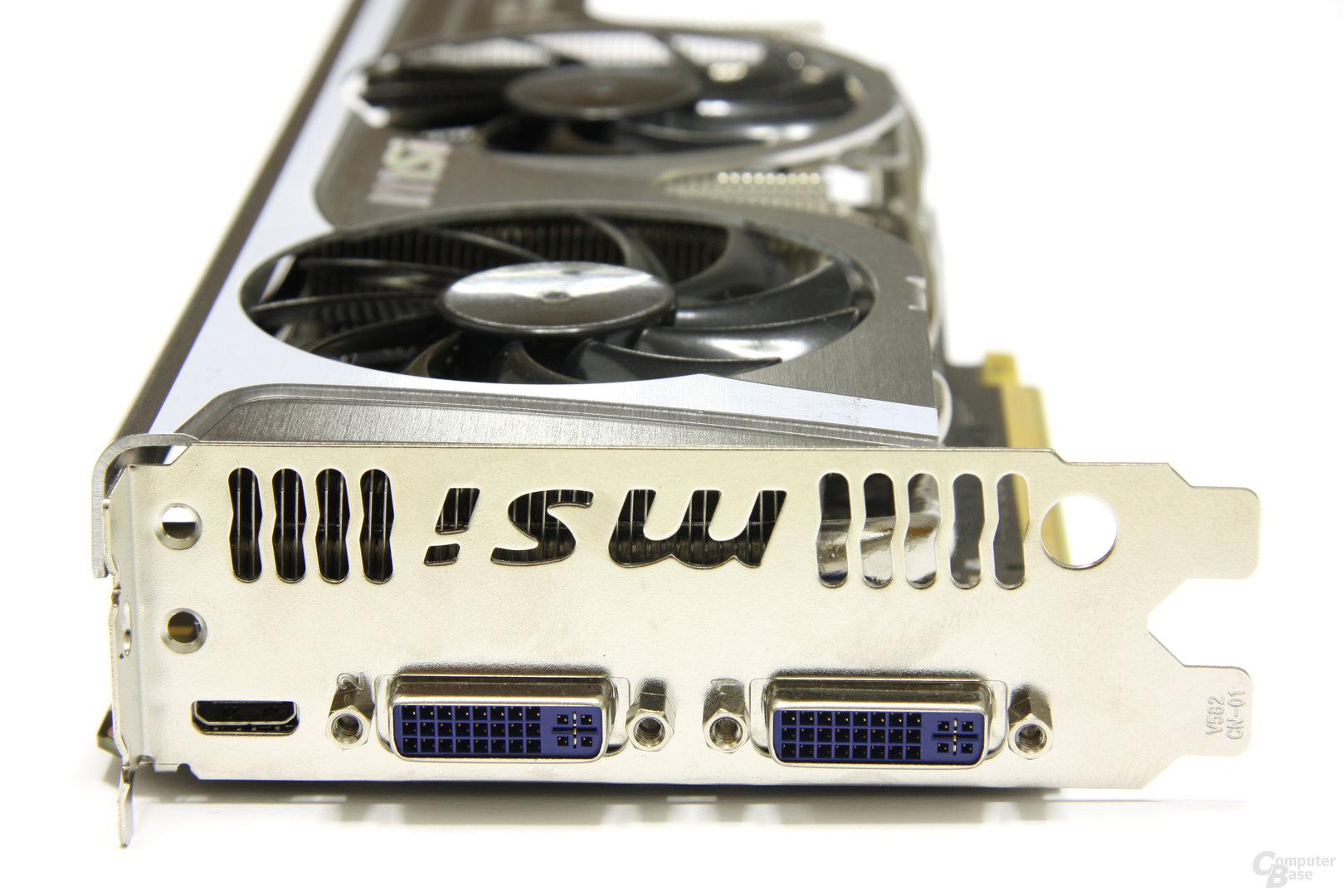 GeForce GTX 560 Ti TFII OC Slotblech
