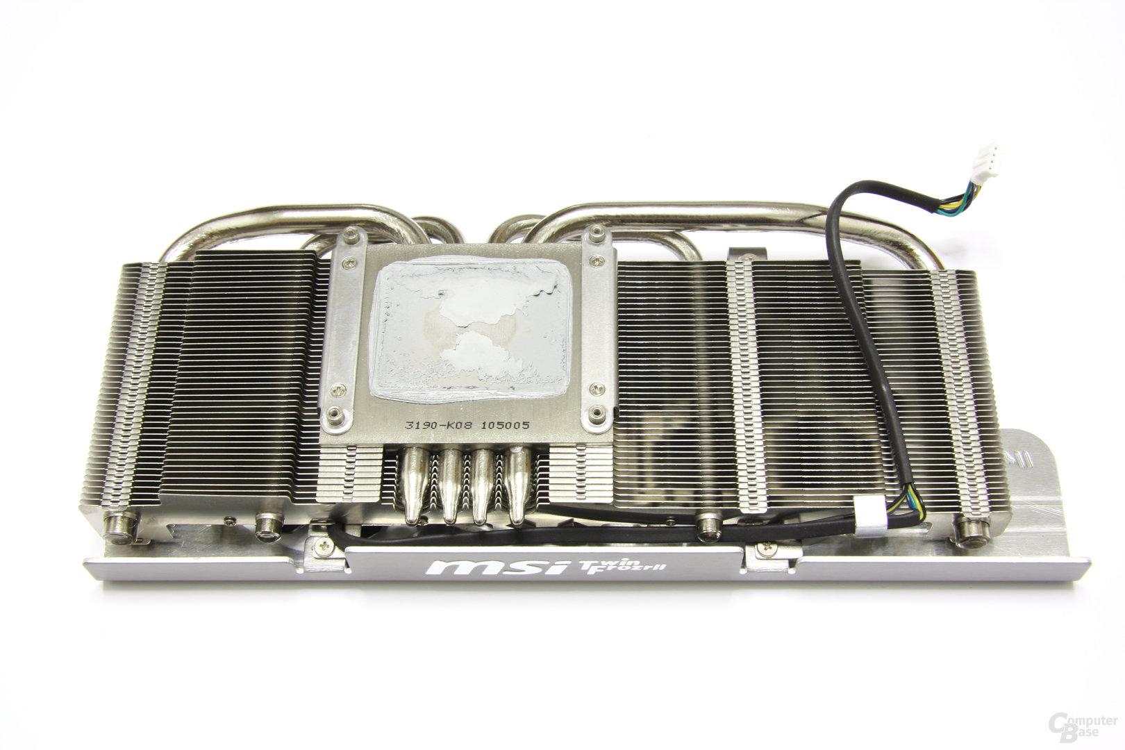GeForce GTX 560 Ti TFII OC Kühlerrückseite