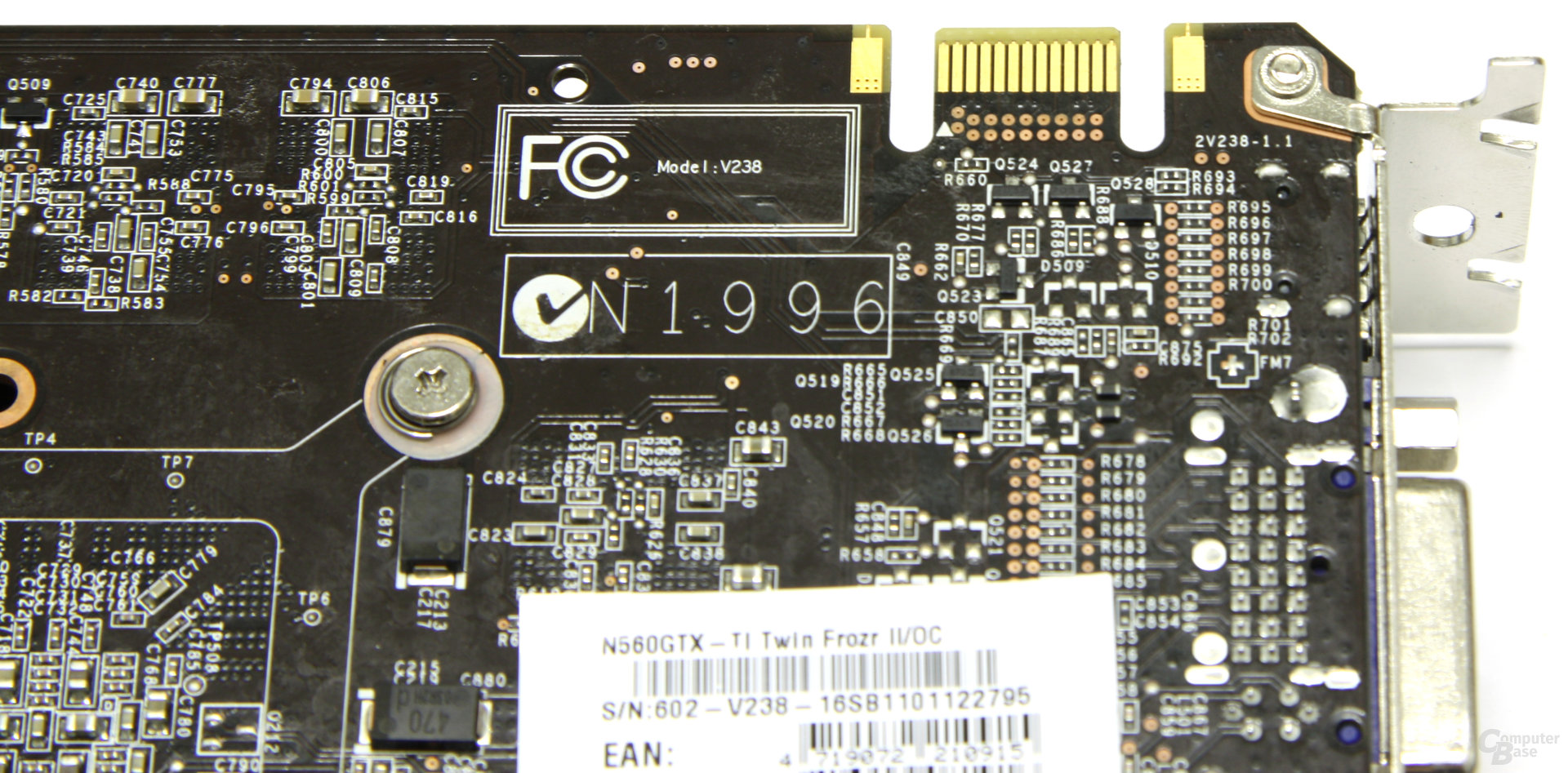 GeForce GTX 560 Ti TFII OC SLI-Anschluss