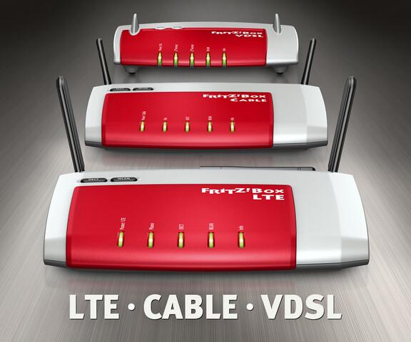AVM Fritz!Box LTE, Kabel und VDSL
