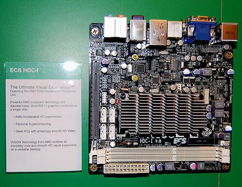 """ECS HDC-I – Mini-ITX-Board mit AMD """"Fusion"""""""