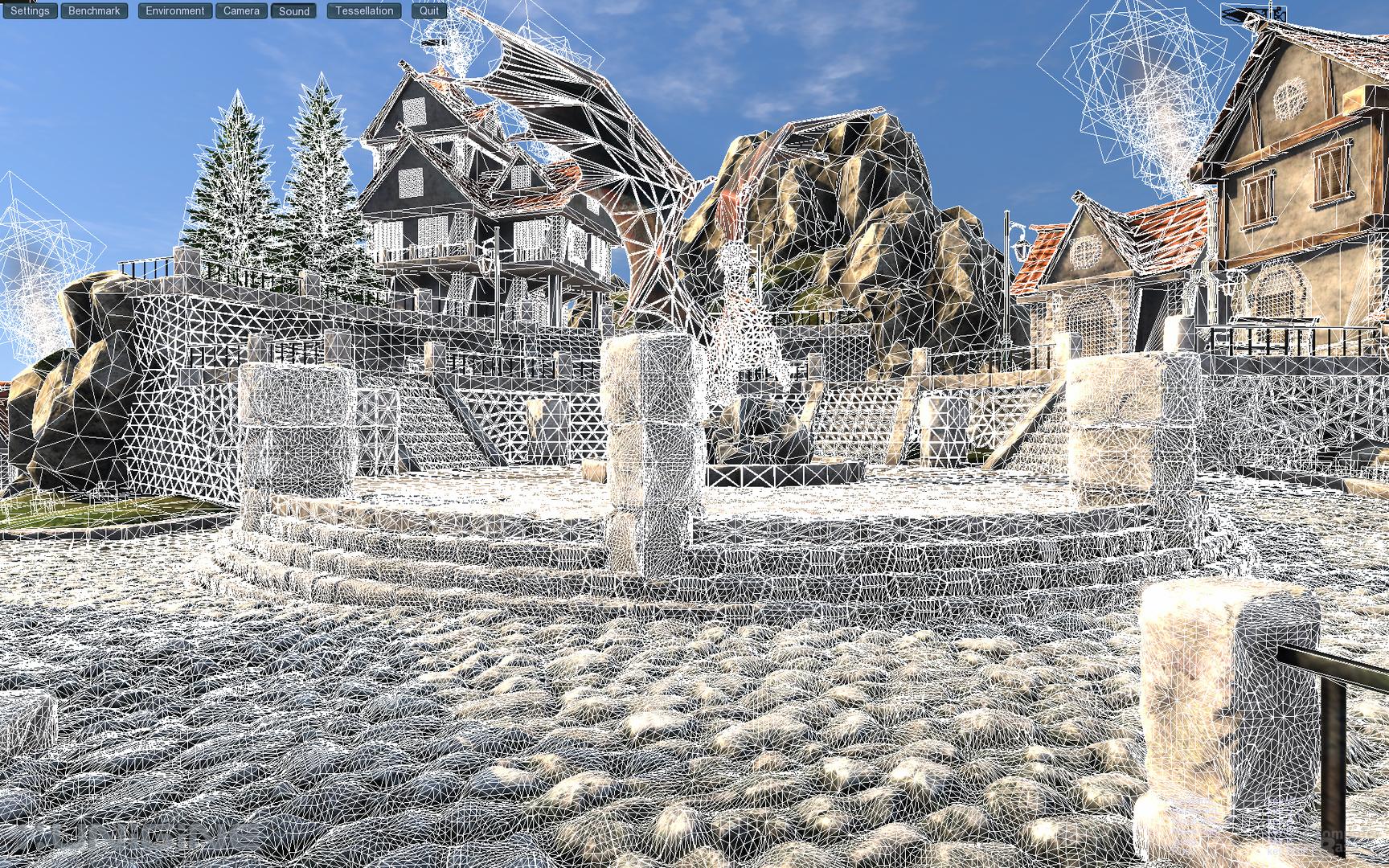 Unigine heaven – Normal Tessellation