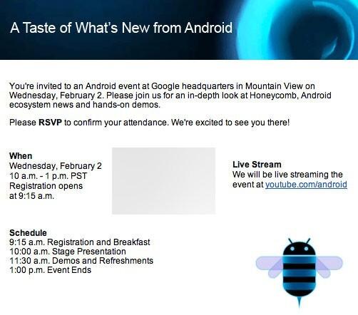 Einladung Android-Event 2. Februar 2011