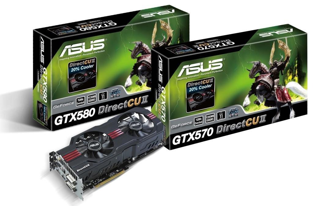 Asus GTX 570 und GTX 580 DirectCU II