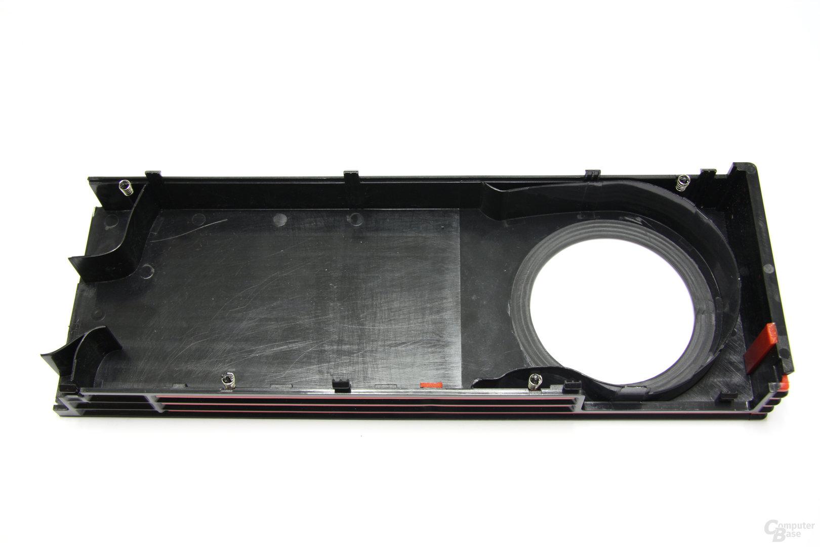 Radeon HD 6950 1GB Kühlerabdeckungsrückseite