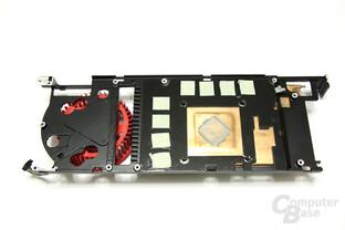 Radeon HD 6950 1GB Kühlerrückseite