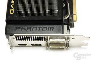 GeForce GTX 580 Phantom Anschlüsse