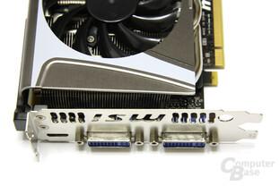 GeForce GTX 580 TFII OC Anschlüsse