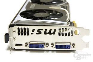 GeForce GTX 580 TFII OC Slotblech
