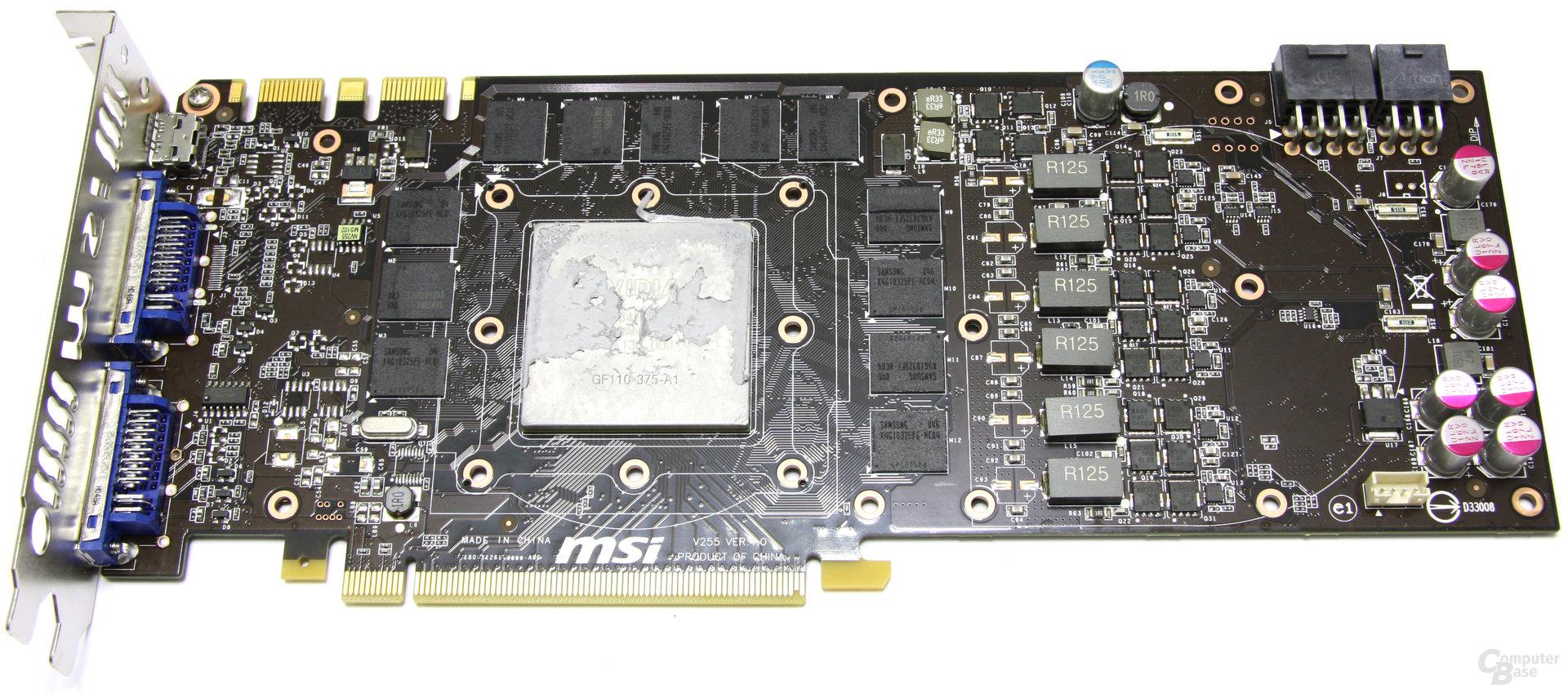 GeForce GTX 580 TFII OC ohne Kühler