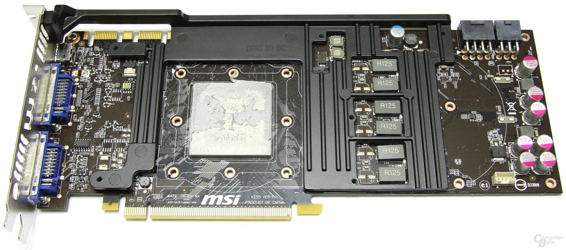 GeForce GTX 580 TFII OC Passivkühler