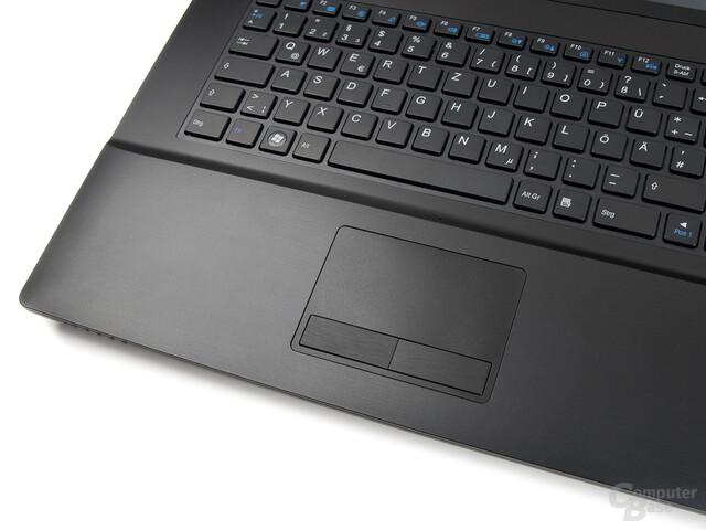 Schenker XMG A701: Touchpad