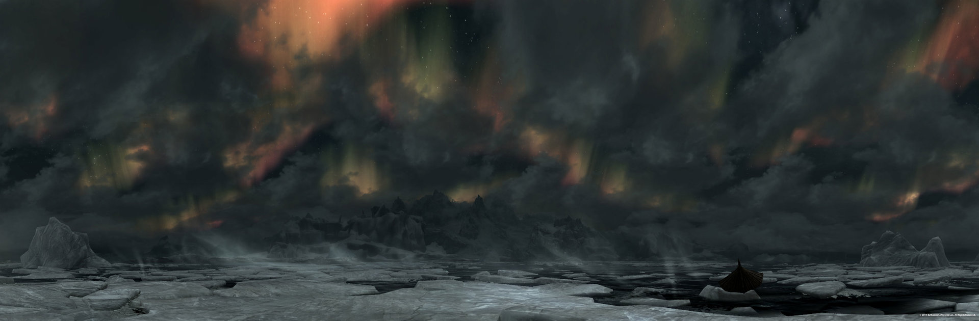 Northern Coast Aurora Panorama – 19.10.2011
